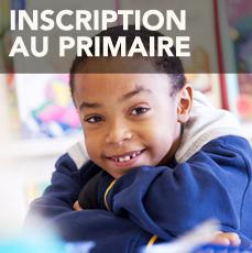 Inscription au primaire